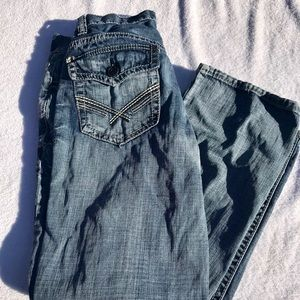 Axel Jeans Distressed Relaxed Straight Leg Size 30